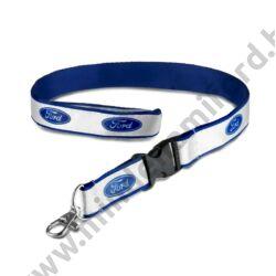 36000022 - Nyakba akasztható Ford kék-fehér